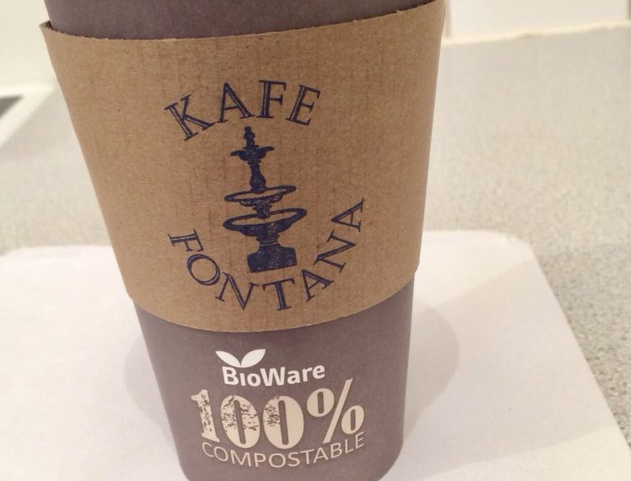 Compostable coffee cups create a stir!